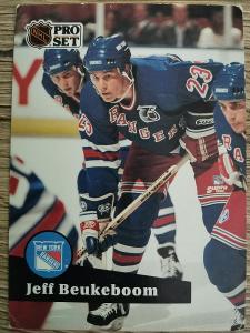 Karta Pro Set 91-92 č. 444 Jeff Beukeboom