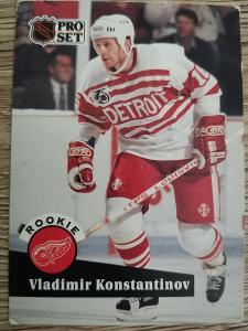 Karta Pro Set 91-92 č. 533 Vladimir Konstantinov Rookie