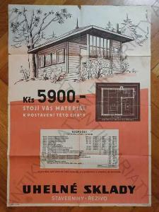 Kčs 5900 stojí vás materiál k... plakát 1954 Váňa