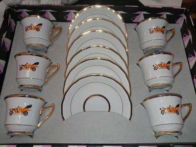 Retro kávový servis 6 kusů !!!