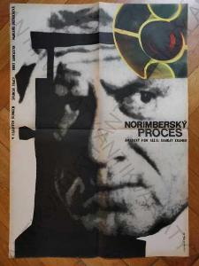 Norimberský proces Zdeněk Palcr film plakát A1