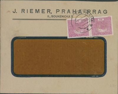 10B2703 J. RIEMER, Praha- Soukenická  + PERFÍN