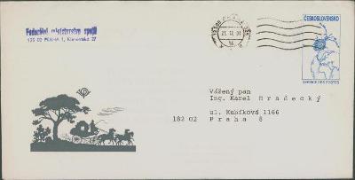 10B2706 Služebná obálka CSO9- Federální ministerstvo spojů- Hradecký