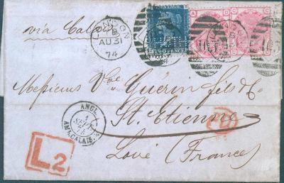 17B108 Londýn/ St.Etienne, podniková korespondence- zn. s perfínem- R!