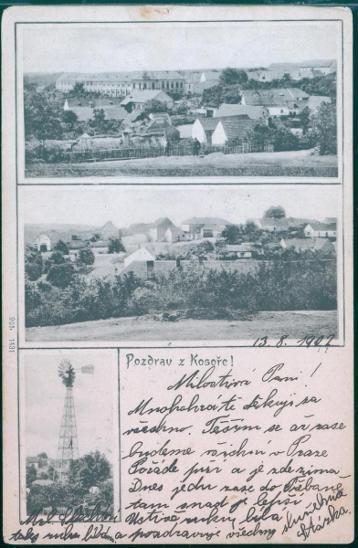 10D1545 Pohlednice Kosoř u Černošic, Praha, raz. Ahlbeck, Německo