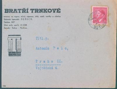 12B147 Firemní dopis Sušice - Praha
