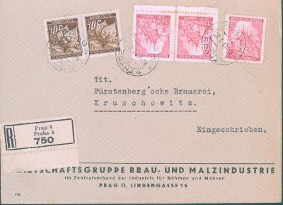 12B152 R dopis Praha - knížecí pivovar Krušovice