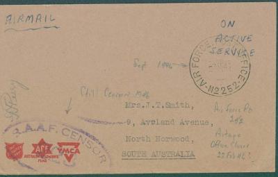 13B191 Obálka australské vojenské pošty - 146 - směr Austrálie - RR!