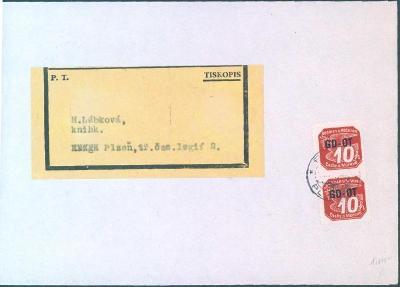 12B28 Výstřižek z balíku, frank. 2x 10h, s přetiskem GD-OT, vzácné