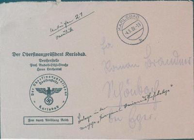 12B90 Služební dopis Karlovy Vary, mimořádné