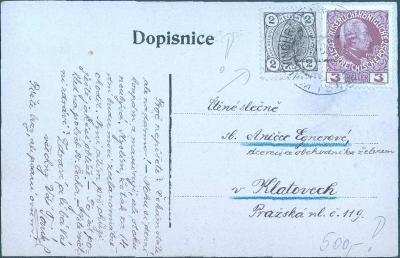 13B63 Svatopluk Čech - pohřeb, R!- frankatura do Klatov