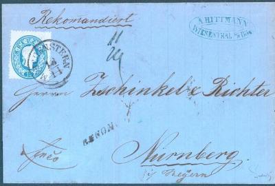 13B62  Smržovka/Morchenstern-vzácné razítko/do Norimberku, šlechta RR!