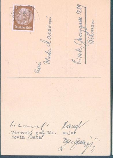 12D4 Koncentr. tábor Weimar - Vicovský,red. N.novin, Písek, vč.podpisu