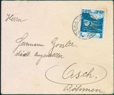 17B453 Dopis Liechtenstein / Lichtenštejnsko - Asch / Aš
