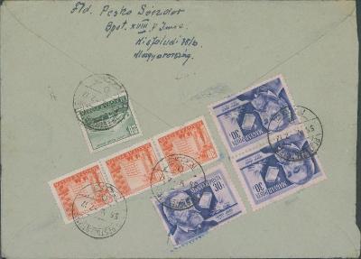 17B905 Maďarský dopis do Trnavy, mimořádná frankatura