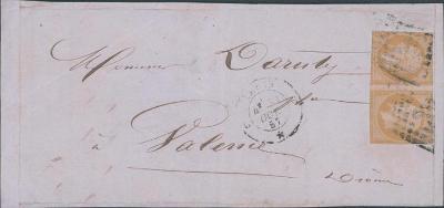 17B957 Francie - výstřižek z dopisu, 2-páska, vzácné