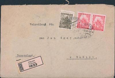 12B797 R dopis Příbram - Sušice