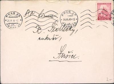 12B803 Dopis Praha - cukrář K. Sedlecký Sušice
