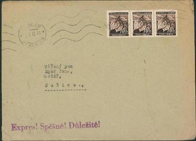 12B832 Dopis AAA Ateliér umělec. práce Praha - J. Eger Sušice