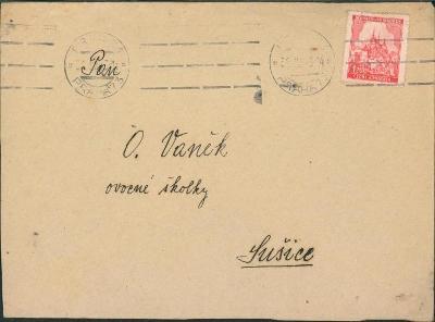 12B837 Dopis Praha - O. Vaněk Sušice