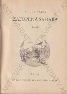 Zatopená Sahara, Julius Verne 1936 Vilímek, Praha