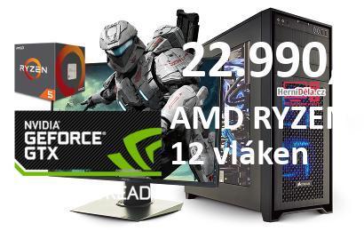 PC Herní Dělo – AMD RYZEN 5 1600 NVIDIA GTX 1650 16GB RAM SSD Win 10