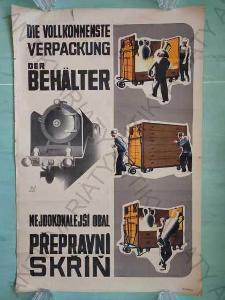 Přepravní skříń reklamní plakát formát A1