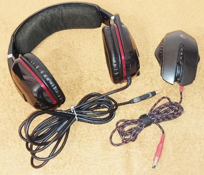 Sluchátka s mikrofonem a vibrací Genius -jako nové +DÁREK !!!
