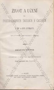 Partikulární školy v Čechách Z. Winter 1901