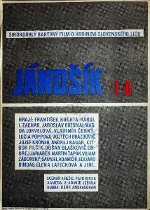 Jánošík I-II filmový plakát A3 Paľo Bielik 1963