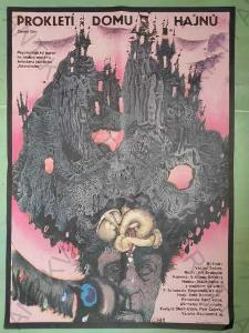 Prokletí domu Hajnů film plakát A1 Jiří Svoboda