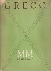 Greco úvodní studie Josef Cibulka 1941 Orbis,Praha