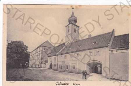 Trhanov(Domažlice), zámek, litografie