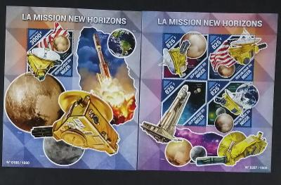 Niger 2015 Mi.3937-0+Bl.492 24€ Sonda New Horizons, vesmír a kosmos