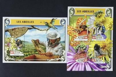 Niger 2016 Mi.4227-0+Bl.550 24€ Včely a medonosný hmyz, med