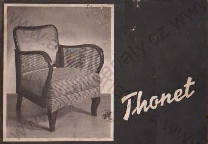 Thonet katalog dobových židlí, křesel a s. souprav