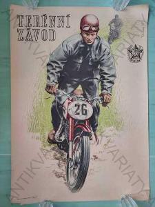Terénní závod Ludvík Petrman plakát A1 1955