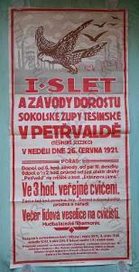 I. slet a závody dorostu Sokolské župy Těšínské..