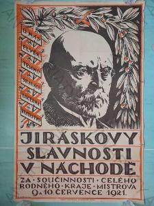 Jiráskovy slavnosti v Náchodě plakát A1 1921