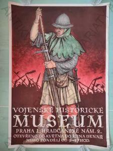 Vojenské historické museum plakát A1 1955