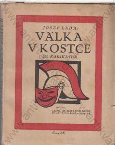 Válka v kostce 200 Karikatur Josef Lada 1918