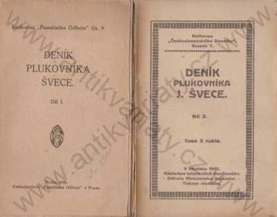 Deník plukovníka Švece Památník odboje, Praha 1920