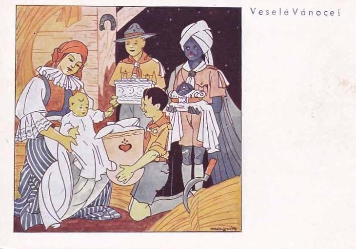 VESELÉ VÁNOCE -324-SQ76 - Pohlednice