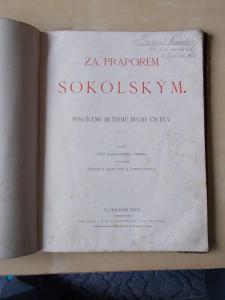 Kniha - Za praporem sokolským 1887, 80 stran