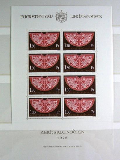 3806 Sbírka známek LIECHTENSTEIN +hezký obr zásobník A4 - Filatelie