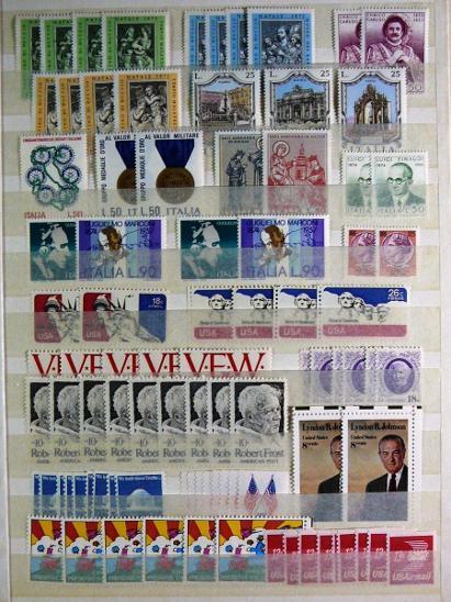 3831 Sbírka známek SVĚT +velmi hezký obr zásobník A4 - Filatelie