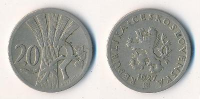 Československo 20 haléřů 1927