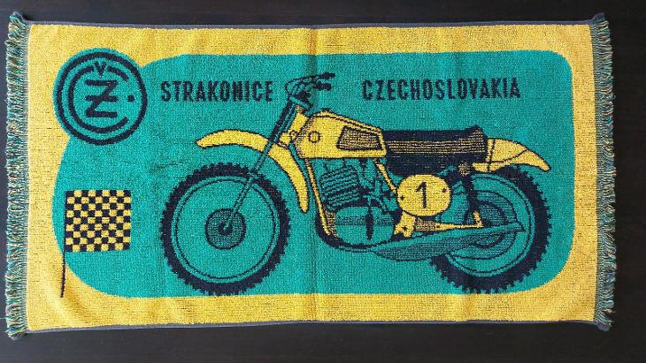 Originál retro ručník ČZ MOTOKROS - Ostatní