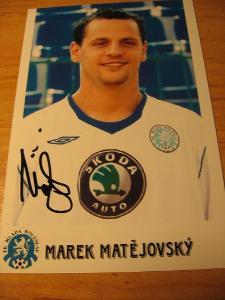 Marek Matějovský - Ml. Boleslav - orig. autogram