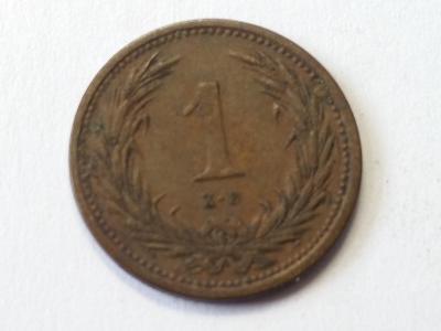 Rakousko-Uhersko FJI - 1 fillér - 1894 KB